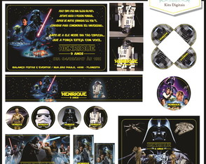 Kit Festa Digital (10 artes) Star Wars