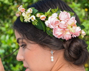 COROA DE FLORES ROMANTIC WEDDING