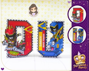 Letras 3D Power Rangers Dino Charge