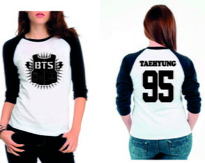Camiseta Raglan 3/4 Bts Boys Kpop Army Integrantes-Escolha