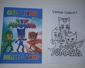 Revista de colorir PJ MASKS