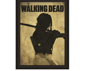 Quadro The Walking Dead com moldura MDF A4