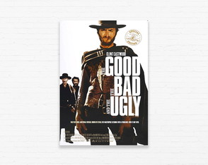 Quadrinho 19x27 The Good The Bad and The Ugly