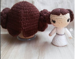 Kit princesa Leia touca + amigurumi ( Star Wars )