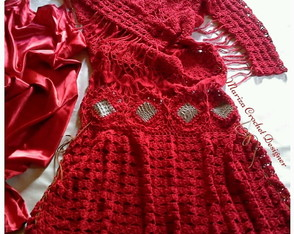 Vestido Longo Crochet Long Dress Crochet Red
