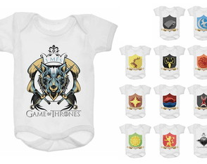 Kit Body Mesversário 12 meses GOT | Game of Thrones