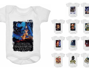 Kit Body Mesversário 12 meses Star Wars