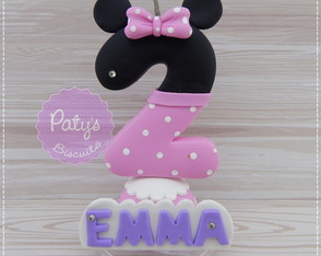 Vela decorada Minnie Rosa