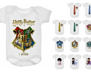 Kit Body Mesversário 12 meses Harry Potter