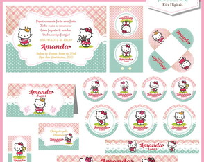 Kit Festa Digital (10 artes) Hello Kitty