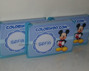 Mini Estojo de Pintura Mickey