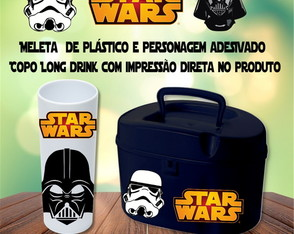 Copo Long drink e Maleta Baú Star wars