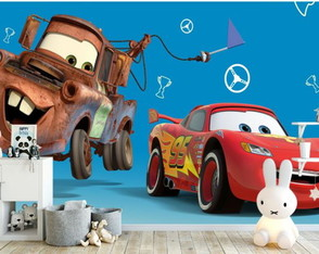 Adesivo parede painel infantil MCqueen Mater carros Disney