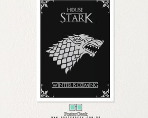 GAME OF THRONES houses - Quadro com Moldura A3 (30x42cm)