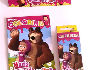 Kit Colorir - Masha e o Urso