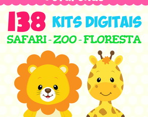Kit Digital Pacote - Safari Zoo Floresta
