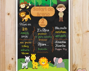 Chalkboard Safari (Arte Digital)