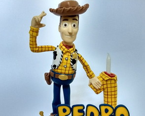 Xerife Woody em biscuit - Toy Story