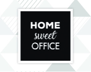 Quadro Home Sweet Office 20x20cm