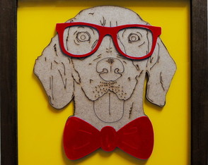 Quadro Decorativo - Modelo Geek Dog