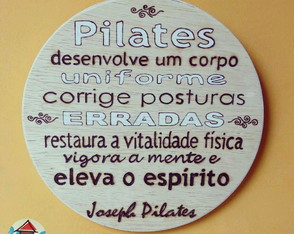 Quadro Decorativo Frase de Joseph Pilates