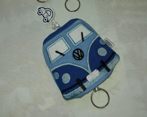 Esconde Chaves Kombi Azul Ref 058