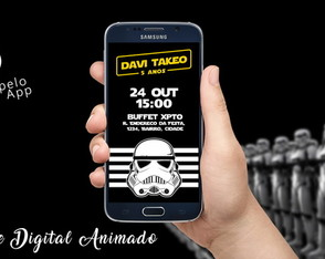 Convite Digital Animado | Star Wars - Stormtrooper