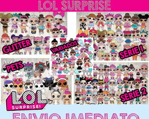 Kit Completo Festa Scrapbook Digital Lol Surprise Series