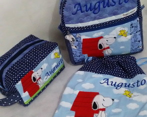kit escolar/creche Snoopy