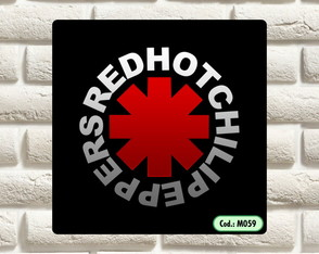 PLACA DECORATIVA - RED HOT CHILLI PEPPERS - REF. M059
