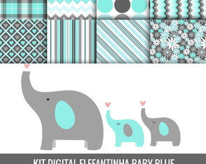 Kit Digital-Elefantinha Azul