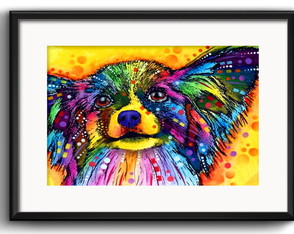 Quadro Papillon Pop Art com Paspatur