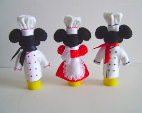 Tubete Mickey e Minnie Chef