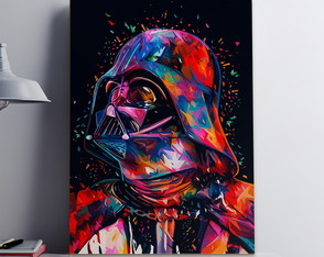 Quadro Poster MDF, A3, Star Wars Color Darth Vader