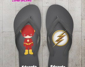 Chinelo aniversario infantil flash, baby cute