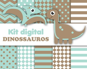 KIT DIGITAL DINOSSAUROS