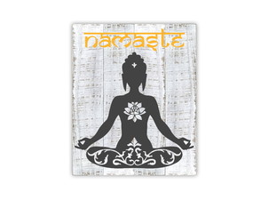 Placa Decorativa Madeira Namaste- 20%OFF