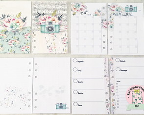 KIT PLANNER PHOTO AND FLOWERS PERSONAL