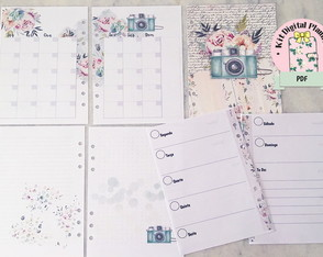 KIT PLANNER PHOTO AND FLOWERS A5