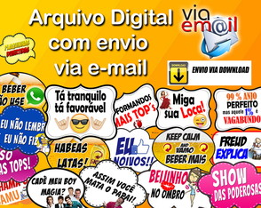 30 PLAQUINHAS DIVERTIDAS / EMOJI / WHATSAPP / DIGITAL