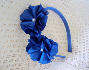 Tiara azul royal