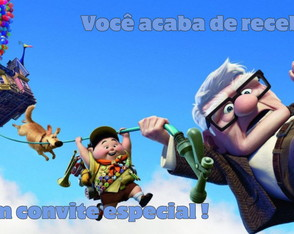Convite animado Up altas aventuras