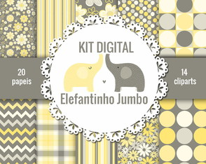 KIT DIGITAL ELEFANTINHO JUMBO