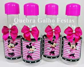 Garrafinha Minnie Rosa - Pet 50ML