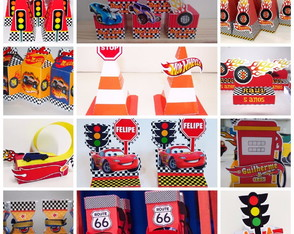 Kit de Personalizados - Tema Hot Wheels