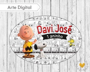 Placa Elipse Snoopy (digital)