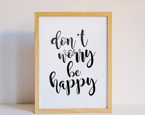 Quadro Don't Worry Be Happy - Arte Digital