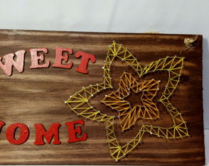 Quadro string art home sweet home