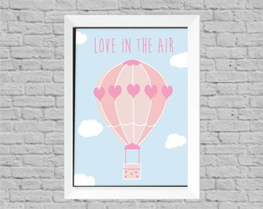 Quadro infantil love in the air