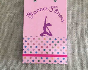 Planner Fitness A5 Rosa Chá